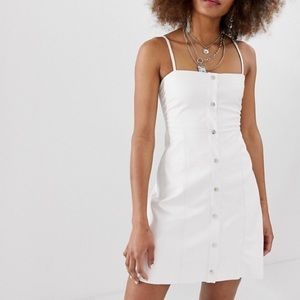 ASOS collusion faux leather dress